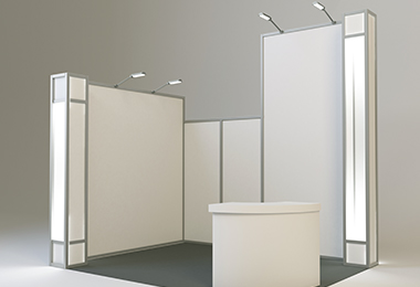 rental booth recommendation rendering design