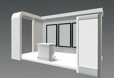 custom booth recommendation rendering design