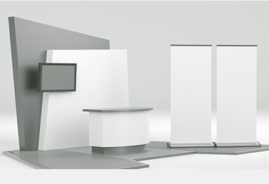 combined booth recommendation rendering design