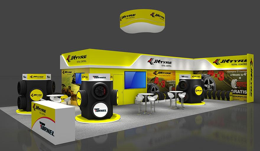 20x40 booth design