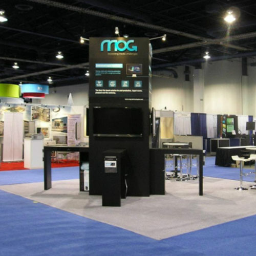 Trade Show Towers with Media Displays
